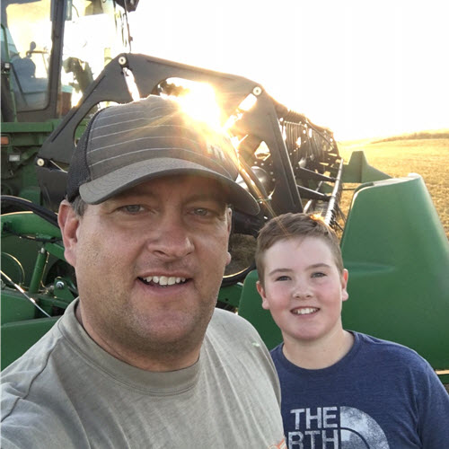 Trevor Scherman and his son