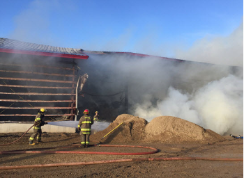 Barn fire in Monck